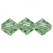 Swarovski Elements Perlen Bicones 4mm Peridot 50 Stück