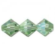 Swarovski Elements Perlen Bicones 4mm Peridot AB beschichtet 100 Stück