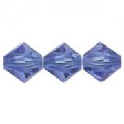 Swarovski Elements Perlen Bicones 4mm Sapphire 50 Stück