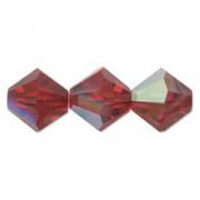 Swarovski Elements Perlen Bicones 4mm Siam AB beschichtet 100 Stück