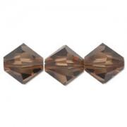 Swarovski Elements Perlen Bicones 4mm Smoked Topaz 50 Stück