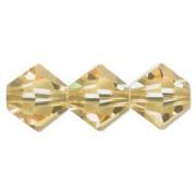 Swarovski Elements Perlen Bicones 4mm Light Topaz 50 Stück