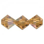 Swarovski Elements Perlen Bicones 4mm Topaz AB beschichtet 100 Stück