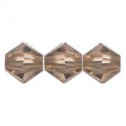 Swarovski Elements Perlen Bicones 4mm Light Smoked Topaz 100 Stück