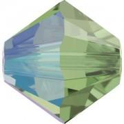 Swarovski Elements Perlen Bicones 4mm Erinite Shimmer 50 Stück