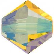 Swarovski Elements Perlen Bicones 3mm Light Topaz Shimmer 2X beschichtet 50 Stück