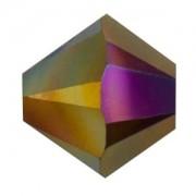 Swarovski Elements Perlen Bicones 6mm Crystal Dark Rainbow 2X beschichtet 50 Stück