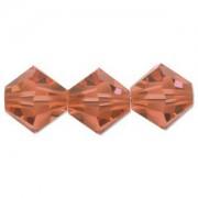 Swarovski Elements Perlen Bicones 4mm Padparadscha 100 Stück