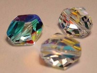 Swarovski Elements Perlen Cosmic Beads 12mm Crystal AB beschichtet