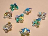 Swarovski Elements Perlen Butterfly 8mm Chrystal AB beschichtet 10 Stück
