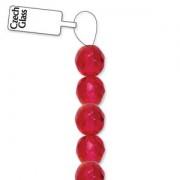 Glasschliffperlen 6mm Cranberry 25 Stück