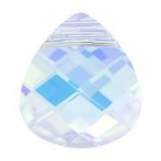 Swarovski Elements Anhaenger Flat Briolette Crystal AB