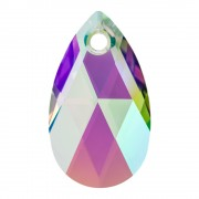 Swarovski Elements Anhänger Pear Pendant 28mm Crystal Paradise Shine
