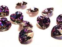 Swarovski Elements Anhänger Herzen 10mm Crystal Vitrail Light 12 Stck