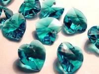 Swarovski Elements Anhänger Herzen 10mm Blue Zircon 12 Stck