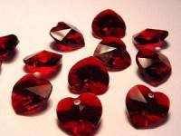 Swarovski Elements Anhänger Herzen 10mm Garnet 12 Stck