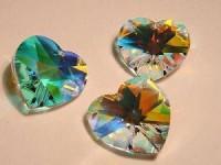 Swarovski Elements Anhänger Herzen 18mm Crystal AB beschichtet
