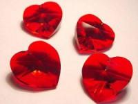 Swarovski Elements Anhänger Herzen 18mm Siam