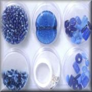 Perlen Mix inclusive Zubehör blau