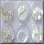 Perlen Mix inclusive Zubehör weiss