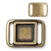 Slider 17,6x24,3mm altgold
