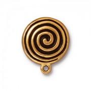 Tierracast Ohrclips  Spiral Clip eine Öse vergoldet 1 Paar