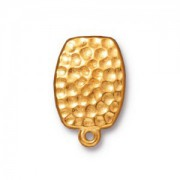 Tierracast Ohrclips  Hammertone Clip eine Öse vergoldet 1 Paar