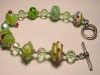 Perlenset Armband, apfelgrün
