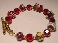 Perlenset Armband, rot