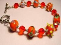 Perlenset Armband, orange