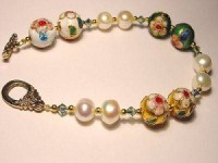 Perlenset Armband, Cloisonne