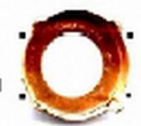 Aufnäkessel - für Swarovski Elements Stein 1122 10mm vergoldet, nickelfrei