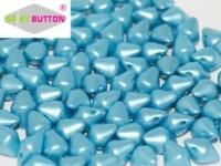Spiky Button 4,5x6,5mm Alabaster Pastel Aqua ca 50 Stueck