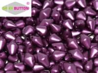 Spiky Button 4,5x6,5mm Alabaster Pastel Bordeaux ca 50 Stueck