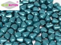 Spiky Button 4,5x6,5mm Alabaster Pastel Emerald ca 50 Stueck