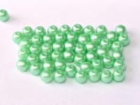 Glasperlen rund gepresst Alabaster Pastel Light Green 3mm ca 150 Stück