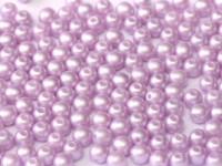 Glasperlen rund gepresst Alabaster Pastel Light Rose 3mm ca 150 Stück