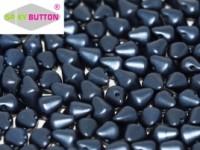 Spiky Button 4,5x6,5mm Alabaster Pastel Montana Blue ca 50 Stueck