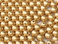 Glasperlen rund gepresst Aztec Gold 3mm ca 150 Stück