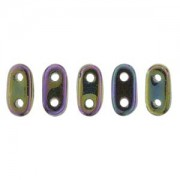 Bar-Beads 2x6mm irisierend Purple ca 10 g