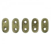 Bar-Beads 2x6mm Metallic Suede Gold ca 10 g
