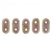 Bar-Beads 2x6mm Rose opaque Luster Gold Topaz ca 10 g