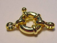 Federring goldfarben mittel 13mm