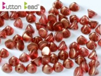 Button Beads 4mm Crystal GT Razzmatazz ca 50 Stück