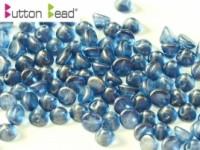 Button Beads 4mm Crystal GT Cerulean Blue ca 50 Stück