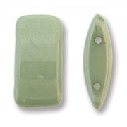 Carrier Beads 9x17mm Green Luster 15 Stck