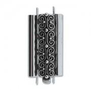 Beadslide Verschluss Squiggle Design Ant. Silver 10x24mm