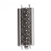 Beadslide Verschluss Squiggle Design Ant. Silver 10x29mm