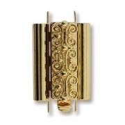 Beadslide Verschluss Squiggle Design gold plated 10x18mm