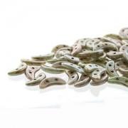 Crescent Beads Opaque Ultra Luster Green 3x10mm ca 10 gr